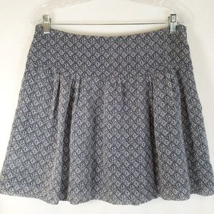 Madewell navy print silk mini skirt